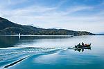 Oesterreich, Kaernten, Blick von Poertschach ueber den Woerthersee | Austria, Carinthia, view from Poertschach across Lake Woerthersee