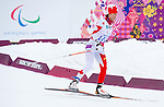 Sochi, RUSSIA - Mar 14 2014 - Caroline Bisson competes in the Women's 12.5km - Standing at the 2014 Paralympic Winter Games in Sochi, Russia.  (Photo: Matthew Murnaghan/Canadian Paralympic Committee)