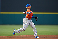 St. Lucie Mets third baseman Jhoan Urena (41) throws to first base during the Florida State League All-Star Game on June 17, 2017 at Joker Marchant Stadium in Lakeland, Florida.  FSL North All-Stars defeated the FSL South All-Stars  5-2.  (Mike Janes/Four Seam Images)