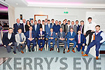 The Piarsaigh na Dromoda senior team and management celebrating their South Kerry Senior Championship win at the clubs social in the Sea Lodge, Waterville on Friday night.
