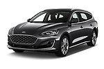 2019 Ford Focus-Clipper Vignale 5 Door Wagon angular front stock photos of front three quarter view