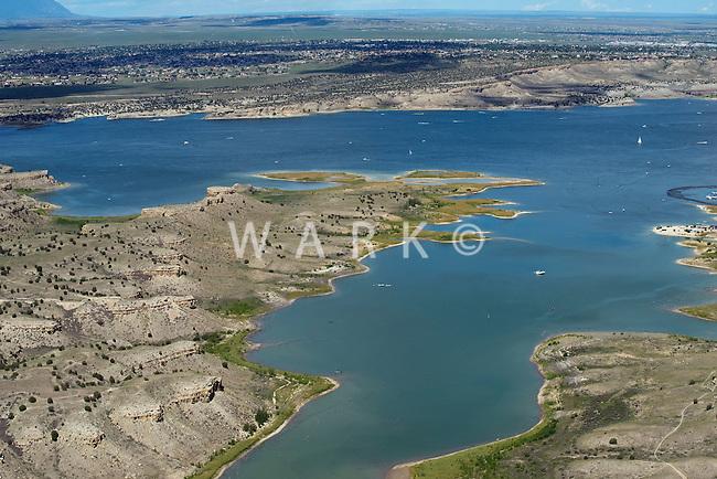 Lake Pueblo looking North to Pueblo West. Aug 23, 2014. 813105