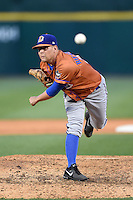 Durham Bulls pitcher C.J. Riefenhauser (34) delivers a pitch during a game against the Buffalo Bisons on July 10, 2014 at Coca-Cola Field in Buffalo, New  York.  Durham defeated Buffalo 3-2.  (Mike Janes/Four Seam Images)