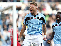 Football, Serie A: S.S. Lazio - Spal, Olympic stadium, Rome, February 2, 2020. <br /> Lazio's captain Ciro Immobile celebrates after scoring during the Italian Serie A football match between S.S. Lazio and Spal at Rome's Olympic stadium, Rome , on February 2, 2020. <br /> UPDATE IMAGES PRESS/Isabella Bonotto