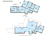 BNPS.co.uk (01202) 558833<br /> Pic: MarchandPetit/BNPS<br /> <br /> Pictured: The floorplan.<br /> <br /> A stunning contemporary home just a stone's throw from an idyllic beach is on the market for £3.85m.<br /> <br /> The aptly-named Beach House was designed to take advantage of its breath-taking views over North Sands Beach and out to sea.<br /> <br /> The four-bedroom oak-framed house is in a fantastic plot in one of the most sought after locations in Salcombe, Devon.<br /> <br /> As well as an expansive balcony to enjoy the views, it also has boat storage - a rarity in the town.