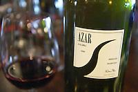 Bottle of Azar Malbec 2000 Mendoza The O'Farrell Restaurant, Acassuso, Buenos Aires Argentina, South America