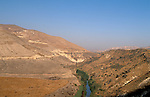 Jordan, the Yarmuk River. Hamat Gader, the Golan southern foothill on the left&#xA;<br />