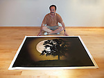 A large 5 ft. by 7 ft. photograph by Michael Knapstein ready to be sent to private collectors in Florida.