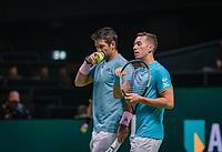 Rotterdam, The Netherlands, 11 Februari 2019, ABNAMRO World Tennis Tournament, Ahoy, first round doubles: Philipp Kohlschreiber (GER) - Fernando Verdasco (ESP)  (L)<br /> Photo: www.tennisimages.com/Henk Koster