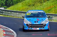 Race of Germany Nürburgring Nordschleife 2016 Free training 2 ETCC 2016 #187 MSC Wahlscheid e.V. im ADAC Peugeot 207 David Griessner (UKR). © 2016 Musson/PSP. All Rights Reserved.