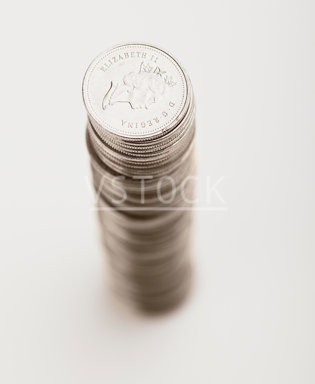 USA, Illinois, Metamora, Studio shot of stack of coins
