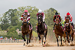 HOT SPRINGS, AR - APRIL 13:  Apple Blossom Handicap at Oaklawn Park on April 13, 2018 in Hot Springs,Arkansas. #5  Unique Bella with jockey Mike E. Smith.(Photo by Ted McClenning/Eclipse Sportswire/Getty Images)