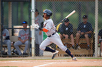 Detroit Tigers Alvaro Gonzalez (27) at bat during an Instructional League instrasquad game on September 20, 2019 at Tigertown in Lakeland, Florida.  (Mike Janes/Four Seam Images)