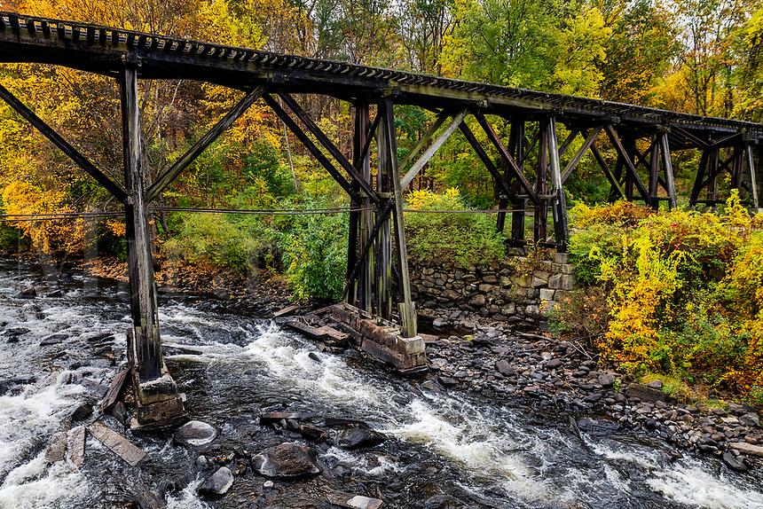 Franklin  Trestle Bridge, Franklin, New Hampshire, USA.
