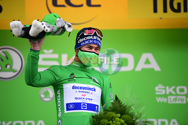 Mark Cavendish (GBR) Deceuninck-Quick Step retains the points Green Jersey at the end of Stage 9 of the 2021 Tour de France, running 150.8km from Cluses to Tignes, France. 4th July 2021.  <br /> Picture: A.S.O./Pauline Ballet | Cyclefile<br /> <br /> All photos usage must carry mandatory copyright credit (© Cyclefile | A.S.O./Pauline Ballet)