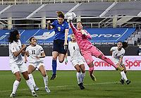 Cristiana Girelli  of Italy scores a goal during the Women s EURO 2022 qualifying football match between Italy and Israel at stadio Carlo Castellani in Empoli (Italy), February, 24th, 2021. Photo Image Sport / Insidefoto