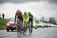 breakaway group: Sander Armee (BEL/Lotto-Belisol), Maarten Tjallingii (NLD/Belkin), Jeffry Johan Romero (COL/Colombia) & Andrea Fedi (ITA/Neri Sottoli) <br /> <br /> Giro d'Italia 2014<br /> stage 2: Belfast-Belfast <br /> 219km