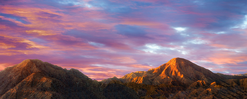 Santa Rosa Mountains at Sunrise. California