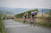 Laurens ten Dam (NED/Sunweb) & Pim Ligthart (NED/Roompot-Nederlandse Loterij) up La Redoute<br /> <br /> Ster ZLM Tour (2.1)<br /> Stage 4: Hotel Verviers > La Gileppe (Jalhay)(190km)