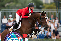 3rd October 2021;  Real Club de Polo, Barcelona, Spain; CSIO5 Longines FEI Jumping Nations Cup Final 2021; Niels Bruyneels from Belgium during the FEI Jumping Nations Cup Final 2021