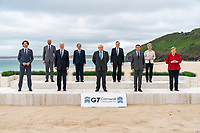 President Joe Biden takes a G7 leaders family photo on Friday, June 11, 2021, at the Carbis Bay Hotel and Estate in St. Ives, Cornwall, England. (Official White House Photo by Adam Schultz)