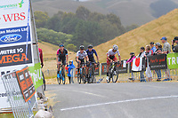 Riders finish stage four of the NZ Cycle Classic UCI Oceania Tour (Te Wharau-Admiral Hill Queen Stage) in Wairarapa, New Zealand on Saturday, 18 January 2020. Photo: Dave Lintott / lintottphoto.co.nz