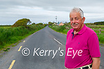 Cllr Robert Beasley standing on the road known locally as the Line Road  in Ballincemesig in Ballyheigue which has received funding for repairs