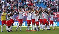 05.05.2018, Football 1. Bundesliga 2017/2018, 33.  match day, RB Leipzig - VfL Wolfsburg, in Red Bull Arena Leipzig. celebration  RB Leipzig  *** Local Caption *** © pixathlon<br /> <br /> Contact: +49-40-22 63 02 60 , info@pixathlon.de