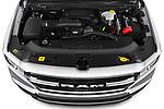Car Stock 2021 Ram 1500 Big-Horn 4 Door Pick-up Engine  high angle detail view
