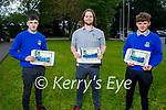 Students from Castleisland Community College 2021 graduation class. L to r: Airidas Budrys, Robbie Carroll and Sean Barrett.