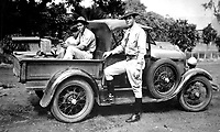 One of our speed cars mounted with Heavy Browning Machine Gun to offset any possibility of rioting during the 1932 Presidential Elections in Nicaragua.  Capt. Charles Davis.  (Marine Corps)<br /> EXACT DATE SHOT UNKNOWN<br /> NARA FILE #:  127-N-531216<br /> WAR & CONFLICT BOOK #:  375