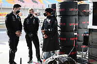 15th November 2020; Istanbul Park, Istanbul, Turkey; FIA Formula One World Championship 2020, Grand Prix of Turkey, Race Day;  44 Lewis Hamilton GBR, Mercedes-AMG Petronas Formula One Team speaks to Toto Wolffe