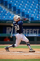 Harry Ford (20) of North Cobb High School in Kennesaw, GA during the Perfect Game National Showcase at Hoover Metropolitan Stadium on June 19, 2020 in Hoover, Alabama. (Mike Janes/Four Seam Images)