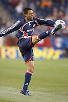 Clint Dempsey traps the ball. NE Revolution tied DC United, 1-1, at Gillette Stadium.