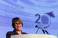 Suzanne Fortier,<br /> Principal and Vice-Chancellor, McGill University <br /> attend the International Economic Forum of the Americas 20th Edition, from June 9-12, 2014 <br /> <br />  Photo : Agence Quebec Presse - Pierre Roussel