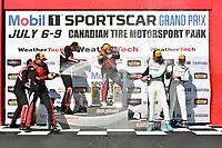 IMSA Continental Tire SportsCar Challenge<br /> Mobil 1 SportsCar Grand Prix<br /> Canadian Tire Motorsport Park<br /> Bowmanville, ON CAN<br /> Saturday 8 July 2017<br /> 57, Chevrolet, Chevrolet Camaro GT4.R, GS, Matt Bell, Robin Liddell, winners, podium, victory lane, 28, Porsche, Porsche Cayman GT4, Dylan Murcott, Dillon Machavern, 69, McLaren, McLaren GT4, Chris Green, Jesse Lazare, win, winner, victorylane<br /> World Copyright: Scott R LePage/LAT Images