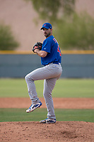 Chicago Cubs relief pitcher Jake Stinnett (41) during a Minor League Spring Training game against the Colorado Rockies at Sloan Park on March 27, 2018 in Mesa, Arizona. (Zachary Lucy/Four Seam Images)