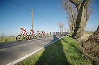 Team Cofidis safeguarding the leaders jersey by controlling the break/peloton<br /> <br /> 3 Days of West-Flanders<br /> stage 2: Nieuwpoort - Ichtegem 186km