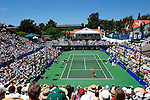 A capacity crowd of 6500 watch the 2003 Accura Classic women's tennis final at La Costa Resort and Spa in Carlsbad, California between Belgians Kim Clijsters and Justine Henin-Hardenne. Henin-Hardenne went on to win in 3 sets 3-6, 6-2, 6-3.