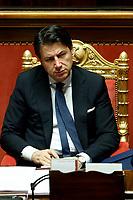 Italian Premier Giuseppe Conte <br /> Rome February 18th 2020. Senate. Speech of the Italian Premier about the next European Council.<br /> Foto Samantha Zucchi Insidefoto