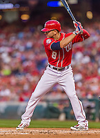 22 August 2015: Washington Nationals infielder Danny Espinosa in action against the Milwaukee Brewers at Nationals Park in Washington, DC. The Nationals defeated the Brewers 6-1 in the second game of their 3-game weekend series. Mandatory Credit: Ed Wolfstein Photo *** RAW (NEF) Image File Available ***