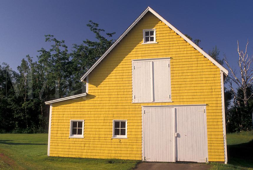 barn, Prince Edward Island, P.E.I., Canada, Yellow barn in King's County on Prince Edward Island.