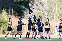 Saturday 17th February 2018 | RBAI vs Sullivan<br /> <br /> Action during the Ulster Schools' Cup Quarterfinal between RBAI and Sullivan at Cranmore Park, Belfast, Northern Ireland. Photo by John Dickson / DICKSONDIGITAL