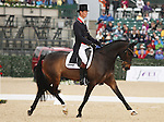 April 25, 2014: Bay My Hero and William Fox-Pitt compete in Dressage at the Rolex Three Day Event in Lexington, KY at the Kentucky Horse Park.  Candice Chavez/ESW/CSM