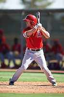 Los Angeles Angels of Anaheim Brennon Lund (6) during an Instructional League game against the Colorado Rockies on October 6, 2016 at the Tempe Diablo Stadium Complex in Tempe, Arizona.  (Mike Janes/Four Seam Images)