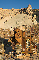 Abandoned mining equipment at Ryan, California, a 1920s mining camp in the Greenwater Range on the Eastern edge of Death Valley