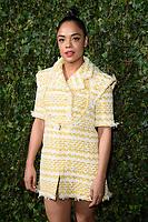 Tessa Thompson<br /> arriving for the 2018 Charles Finch & CHANEL Pre-Bafta party, Mark's Club Mayfair, London<br /> <br /> <br /> ©Ash Knotek  D3380  17/02/2018