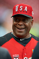 Team USA Ken Griffey Sr during practice before the MLB All-Star Futures Game on July 12, 2015 at Great American Ball Park in Cincinnati, Ohio.  (Mike Janes/Four Seam Images)