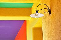 Colorful lamplight in La Placita Village. Tucson. Arizona