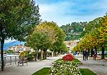 Italy, Lombardia, Bellagio: walk along Lungolago (lakeside promenade) | Italien, Lombardei, Bellagio: Spaziergang am Lungolago (Seepromenade)